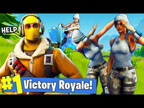 CAN I CARRY MY OWN FANS TO A VICTORY ROYALE!? l Fortnite Battle Royale!