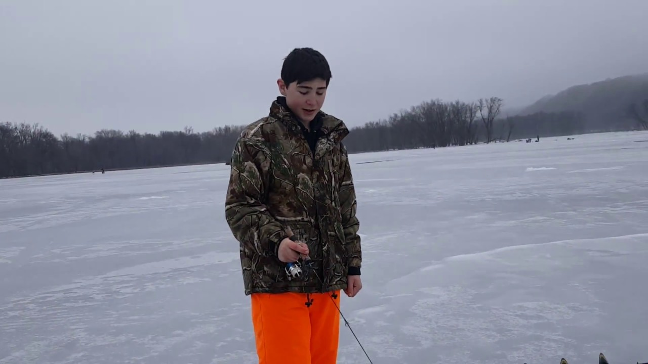 Ice fishing in wisconsin youtube for Wisconsin out of state fishing license