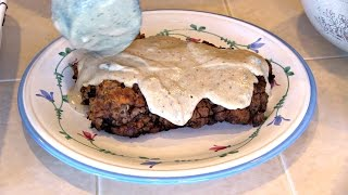 SmokingPit.com - Country Fried Steak Recipe Fried on the Scottsdale Santa Maria BBQ
