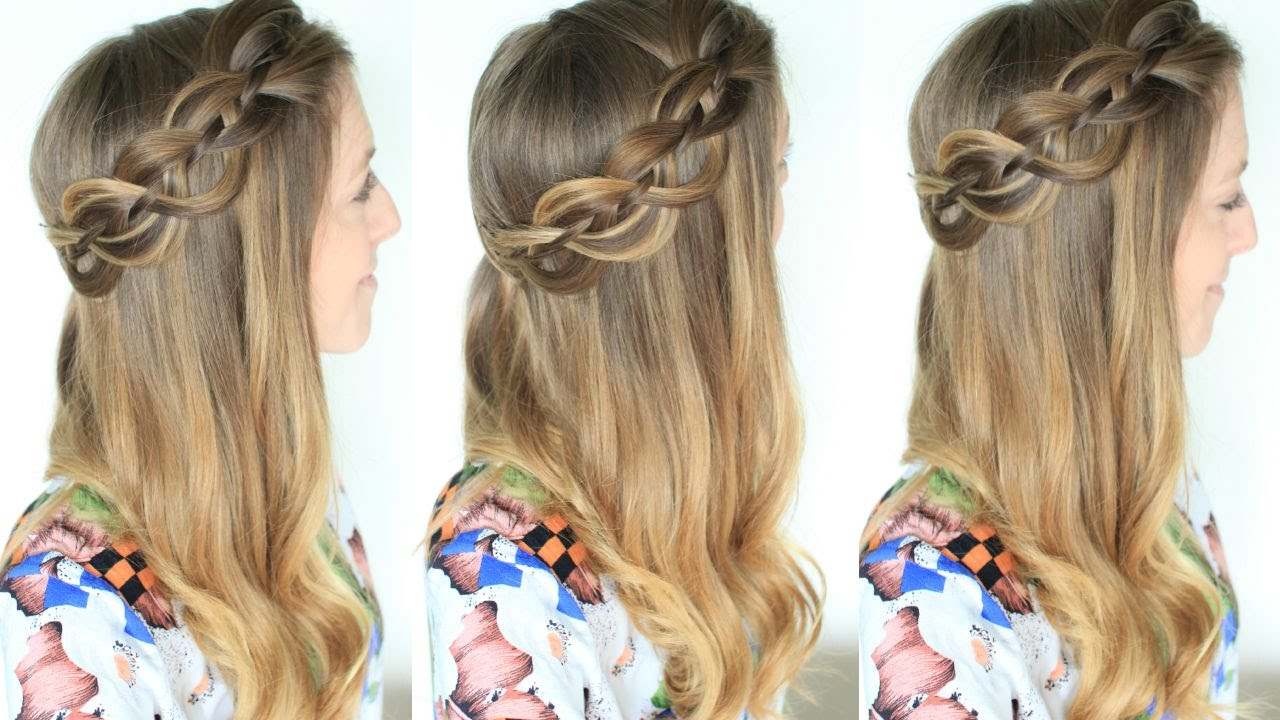 Pulled Back Hair Styles: 4 Strand Pull Back Braided Hairstyle