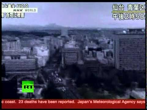 Moment of Japan earthquake caught on cameras triggering 10m tsunami