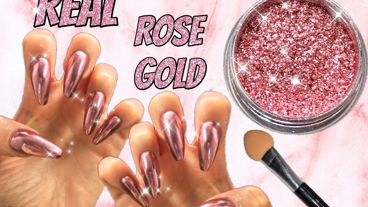 REAL ROSE GOLD MIRROR POWDER New Arrival Show Chrome Effect HOW TO ...