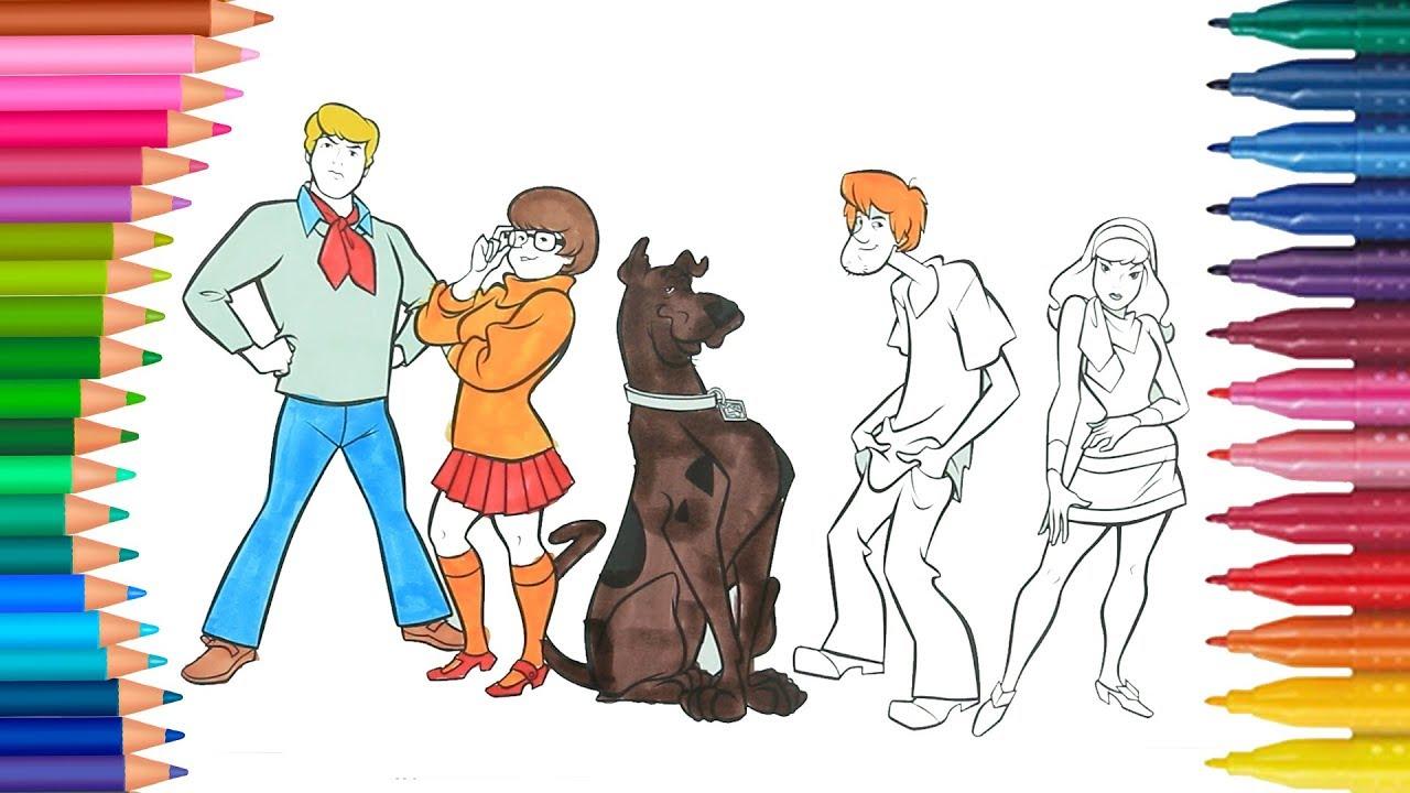 Scooby Doo De Pintar Dibujos Para Ninos Learn Colors Youtube