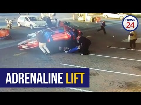 WATCH: Car rolls over man at Cape Town petrol station