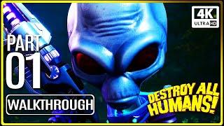DESTROY ALL HUMANS REMAKE Gameplay Walkthrough PART 1 (No Commentary) 4K 60FPS UltraHD