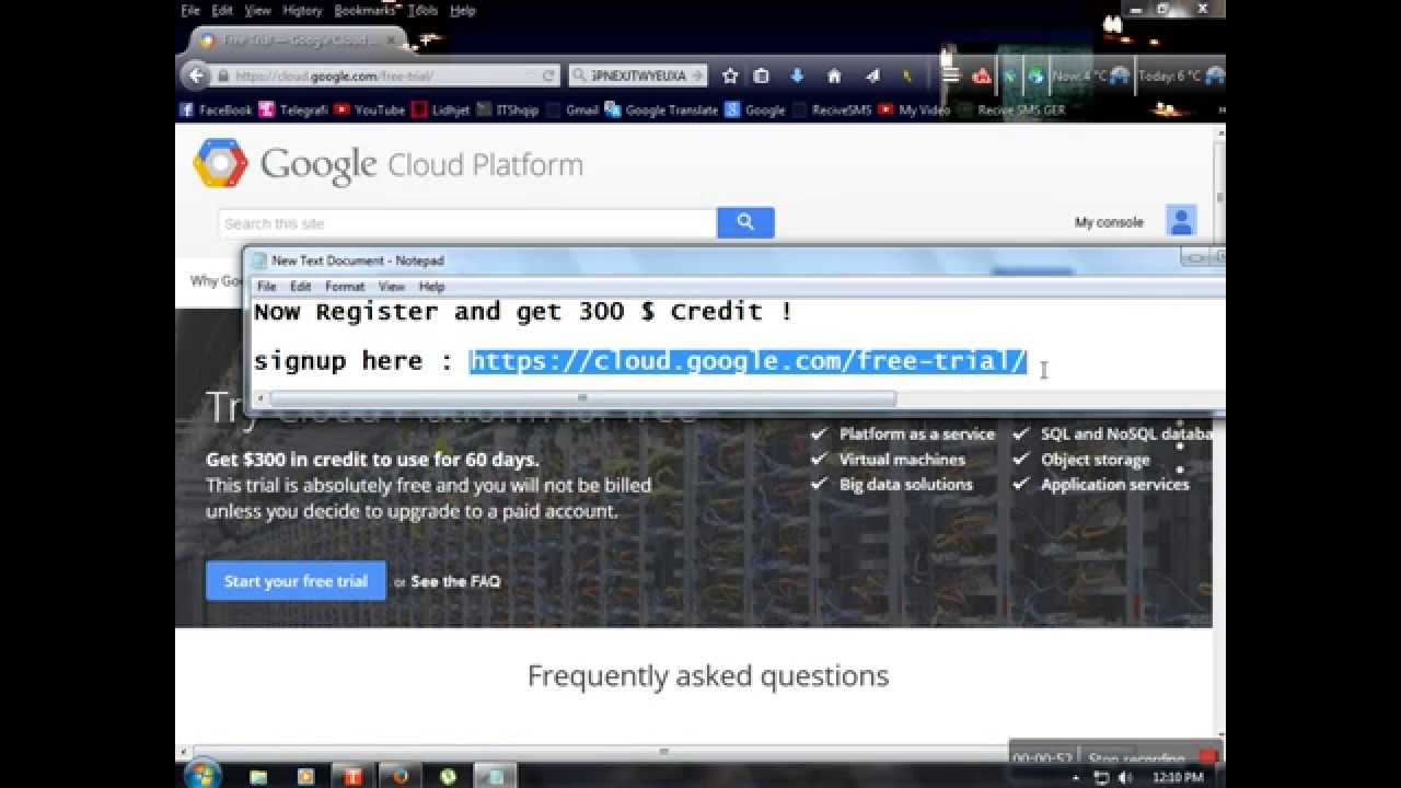 Google Cloud Storage Free - How to get 800 google cloud platform credit free and create vps youtube
