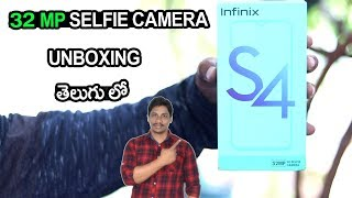 infinix s4 32mp selfie camera mobile Unboxing and overview telugu