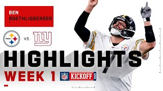 Better Than Ever! Big Ben Hits 366 Career TDs in NFL Return! | NFL 2020 Highlights