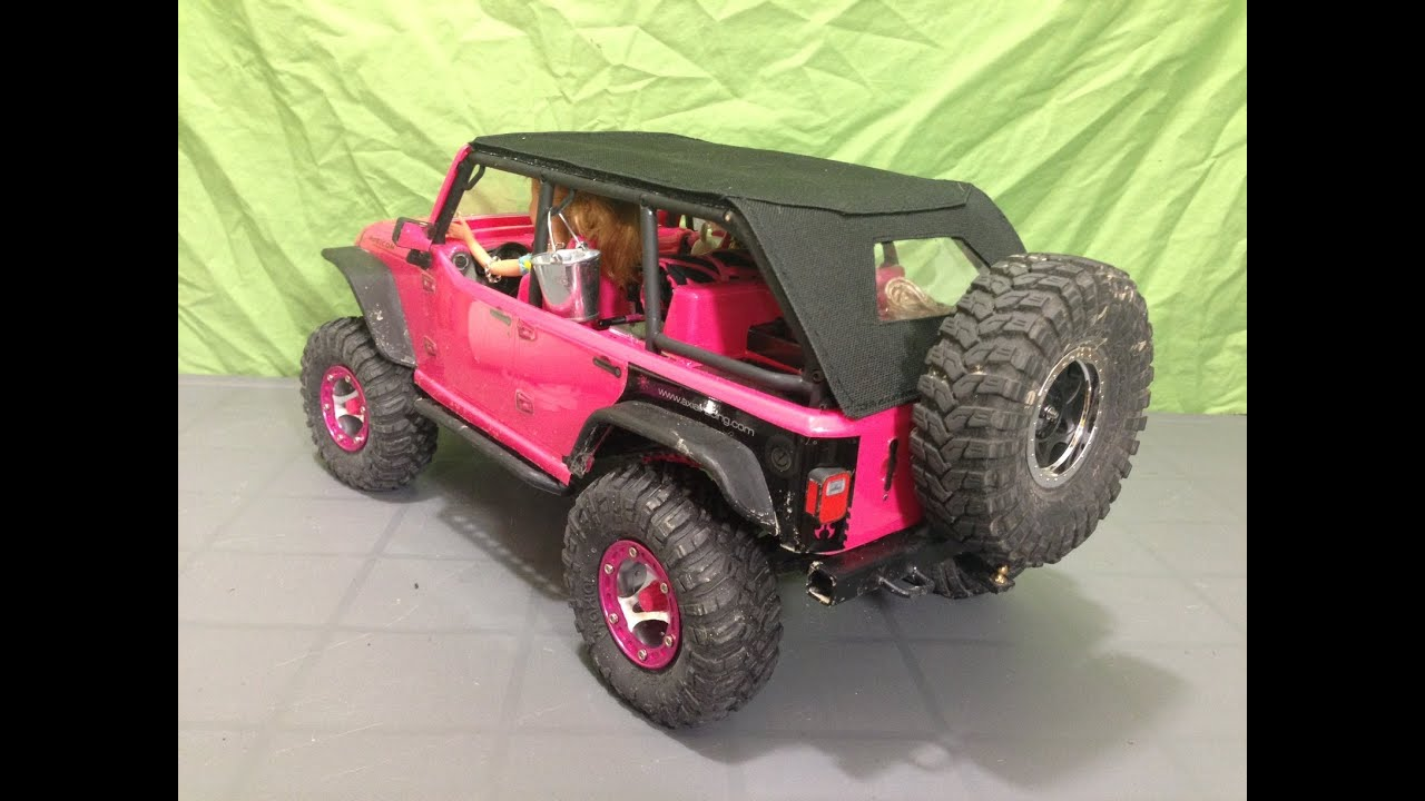 Installing Mad Skinz Canvas Top On My Girl S Scx10 Jeep