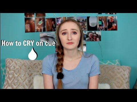 How to cry on cue!!!! How to fake cry! EASY