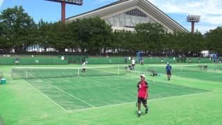 テニス 男子シングルス 1回戦 青森(青森県) - 平城(奈良県) インターハ...
