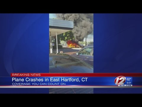 Plane Crashes In East Hartford Connecticut