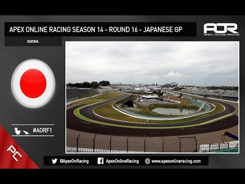 F1 2017 - AOR PC F1 - Season 14 - Round 16 - Japanese GP