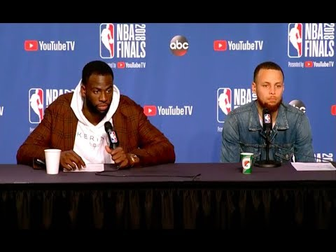 Steph Curry and Draymond Green   Game 3 NBA Finals Press Conference