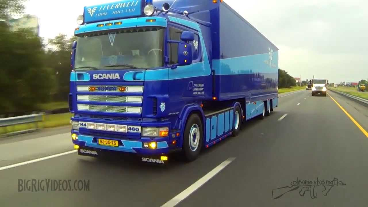 Rolling Footage of a 2000 Scania 144l 460 V8 in America