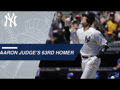 Aaron Judge belts his 63rd career home run