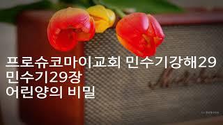 프로슈코마이교회 민수기강해29   민수기29   장어린양의 비밀