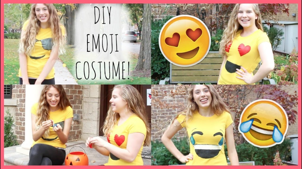 Diy emoji costume easy cheap youtube solutioingenieria Images