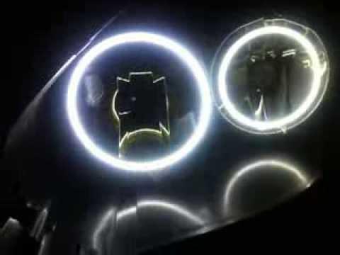 Тюнинг фар светодиодными ангельскими глазками. Лада Приора.