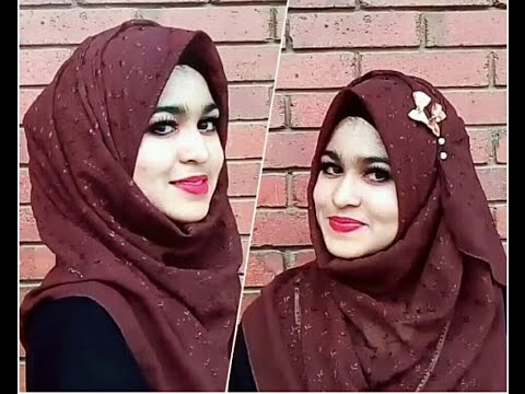 how to wear a square scarf hijab