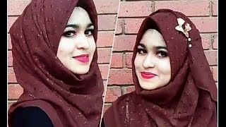 Requested Hijab Style - Using  Square Scarf with Full Coverage