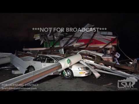 1-22-17 Albany, Georgia Tornado Damage -- GA133 @ Holly Road