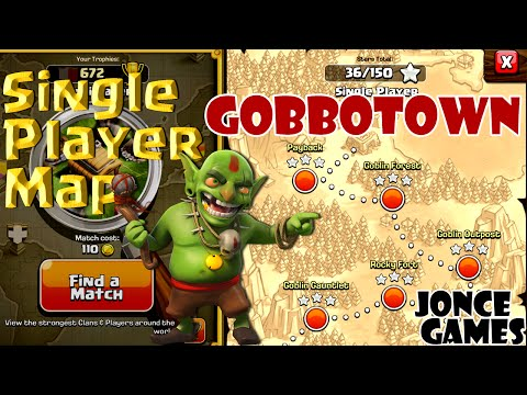 Clash of Clans Walkthrough: Single Player Map 12. Gobbotown