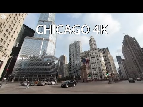 Driving Downtown 360 - Chicago's Main Street - Chicago Illinois USA