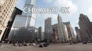 Driving Downtown VR 360 - Chicago 4K - USA