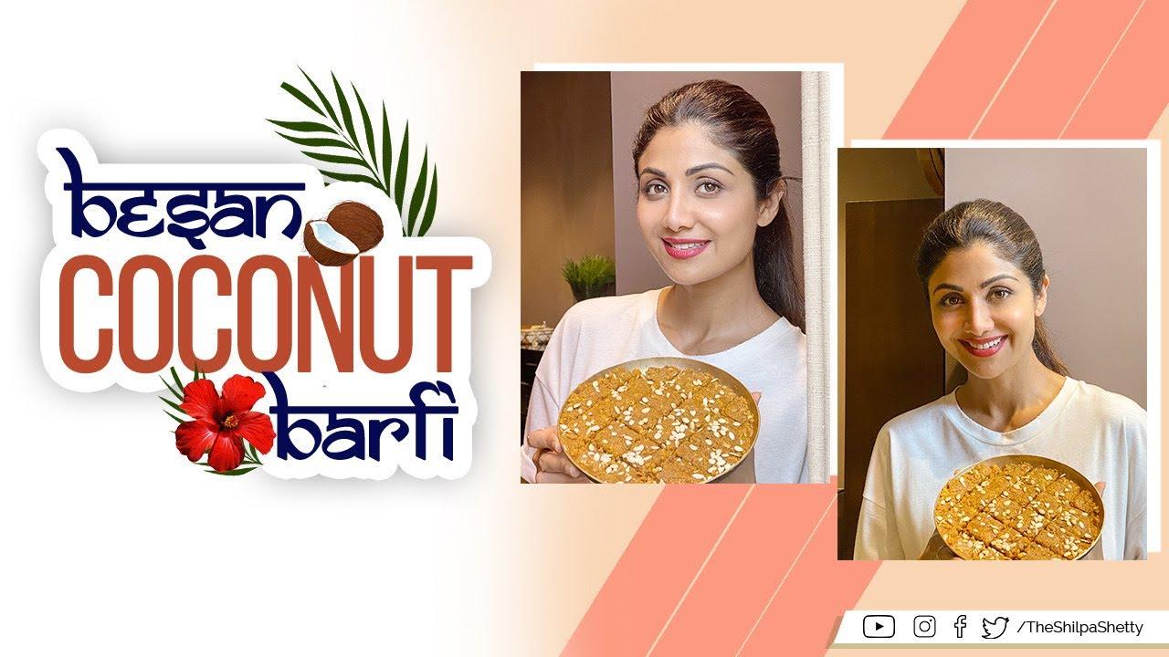 Besan Coconut Barfi | #SwasthRahoMastRaho #TastyThursday