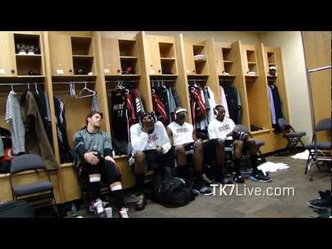 MIAMI HEAT LOCKER ROOM PRE GAME 2 NBA FINALS 2012