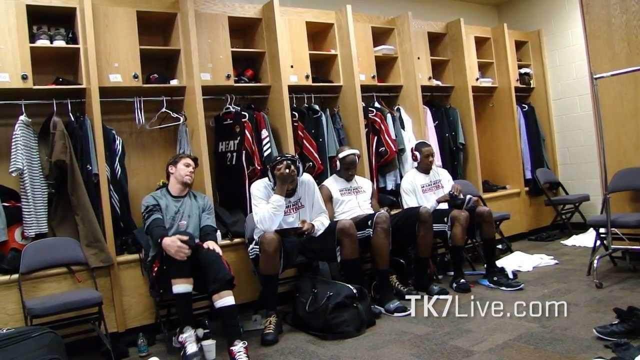 MIAMI HEAT LOCKER ROOM PRE GAME 2 NBA FINALS 2012 - YouTube