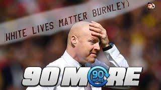 BURNLEY FANS FLY WHITE LIVES MATTER FLAG | MAN CITY 5-0 BURNLEY