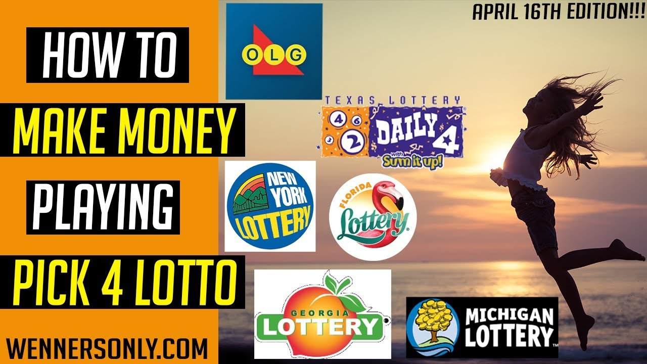 Lottery Strategy for Lotto PICK 4 April 16th 2019 (BIG $1600