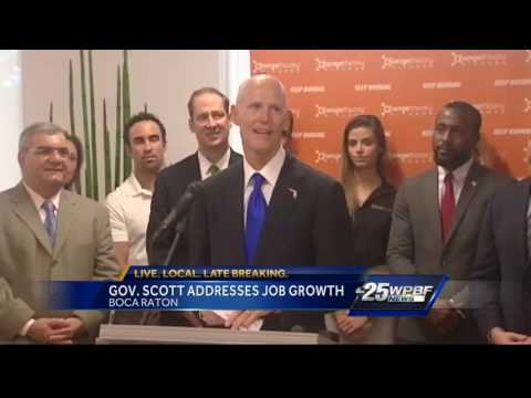 Gov. Scott addresses job growth