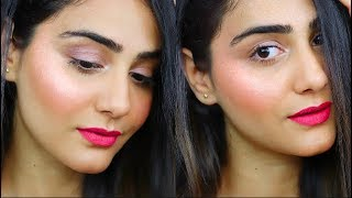 NO FOUNDATION DEWY GLOWING MAKEUP TUTORIAL | SIMMY GORAYA