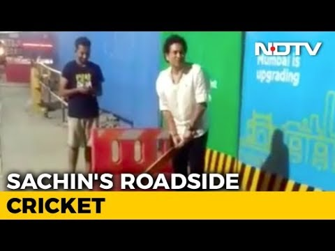 Watch: Sachin Tendulkar Plays Gully Cricket In Mumbai