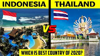 Indonesia VS Thailand | Country Comparison | Military, GDP, Currency, Population, etc.