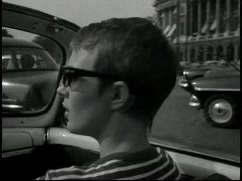 À bout de souffle (Breathless) - Jean Luc Godard  - Car Scene - Jean Paul Belmondo / Jean Seberg