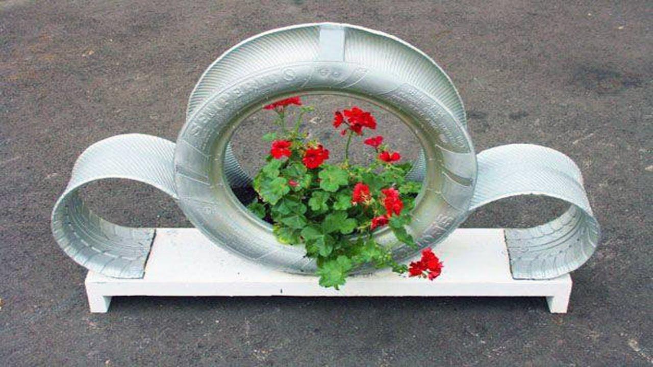 DIY Garden Decoration Ideas With Old Car Tires 💡 ·▭·