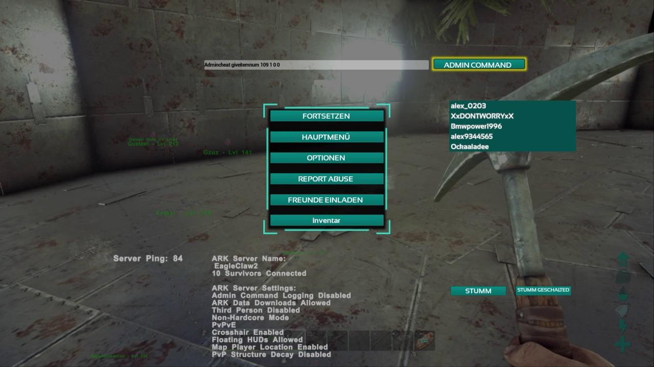 Ark PS4 Admin Command Ressource Cheats YouTube
