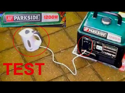 Betere Testing PARKSIDE 1200w generator - YouTube BT-83