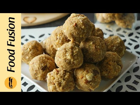 gond-ke-laddu-(edible-gum-laddu)-recipe-by-food-fusion
