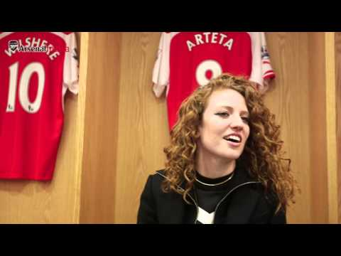 Arsenal fan Jess Glynne visits the Emirates