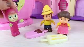 Masha Dondurma Çorbası Yapıyor Eğlenceli Videolar