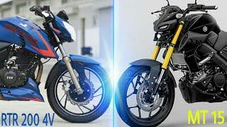 APACHE 200 4V VS MT15 | MT15 VS RTR 200 4V COMPARISON| RICH INDIA MOTO