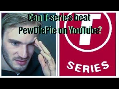 When will Tseries Beat PewDiePie? Answered with High-Tech Side by Side Subscriber Count Simulators