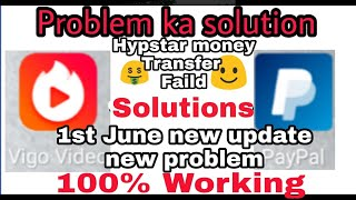 Vigo/Hypstar Money Transfer FAILED Problem | How to Solved | Solution | New Update