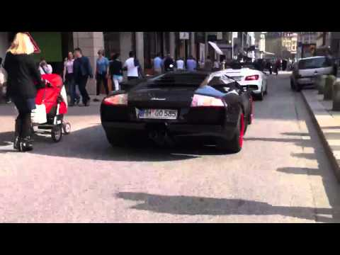 Nice Lamborghini Murcielago with parking problems in Hamburg