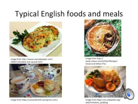 English Cuisine Presentation